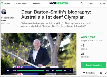 Kickstarter campaign to fundraise money to publish his biography book.