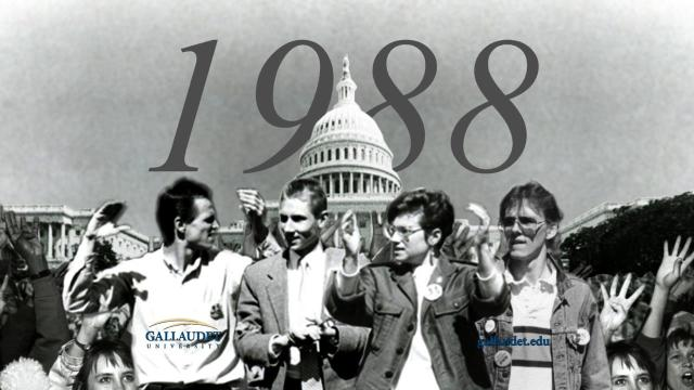 Deaf President Now (DPN) leaders - courtesy Gallaudet archives.