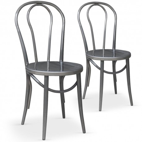 chaises bistrot metal lot de 2