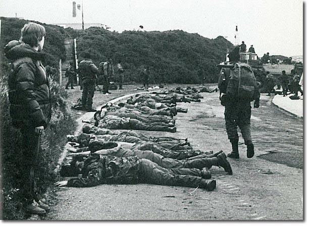 Image result for royal marines surrender falklands