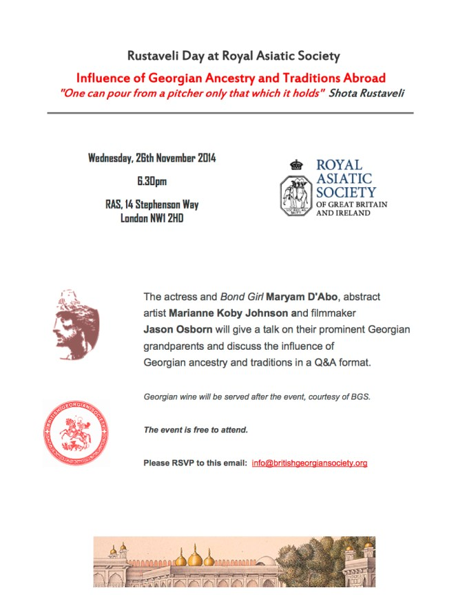 Influence of Georgian Ancestry and Traditions Abroad 26 November