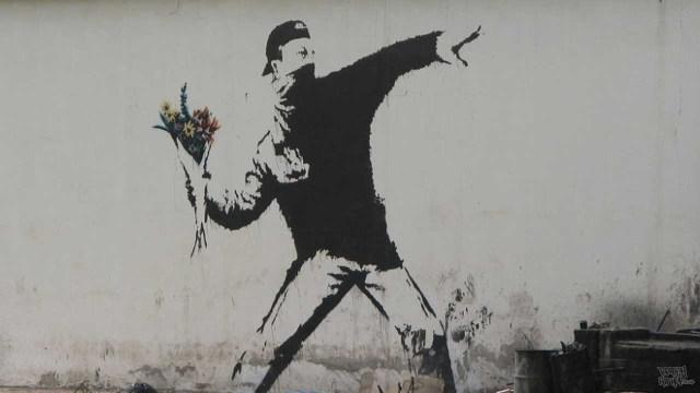 Banksy - Flower Thrower