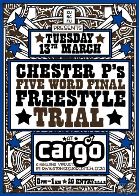 Chester P's Five Word Freestyle Trial