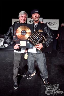 Tony Prince with DJ Izoh DMC World Champion 2012