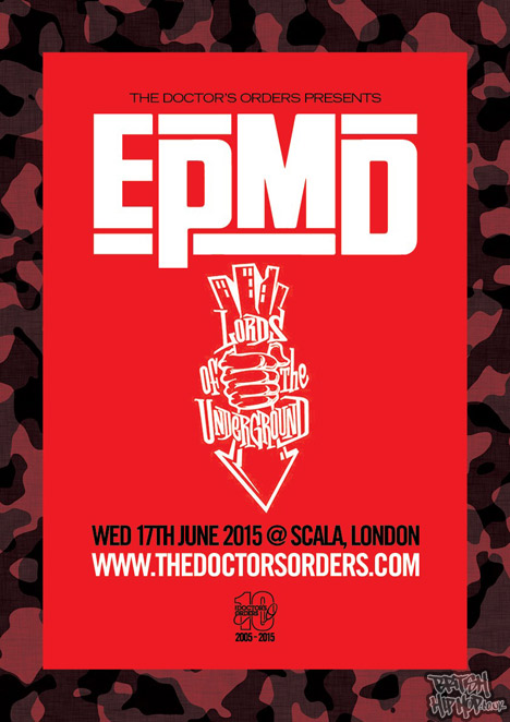 EPMD And Lords Of The Underground At Scala, Kings Cross Wednesday 17th June 2015