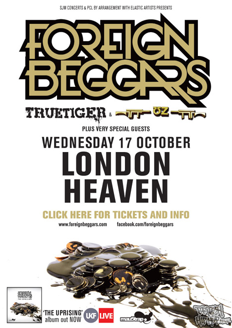 Foreign Beggars - The Uprising Album UK Tour October 2012