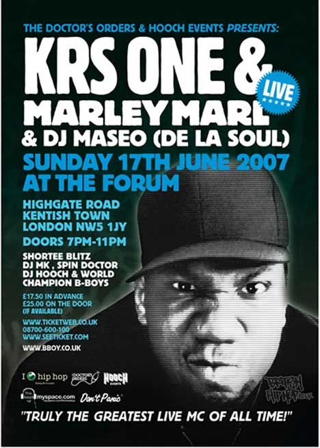 KRS-ONE Live at Doctors Orders, Kentish Town, London