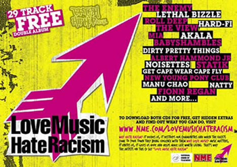 Love Music Hate Racism / Nut / NME CD For Schools