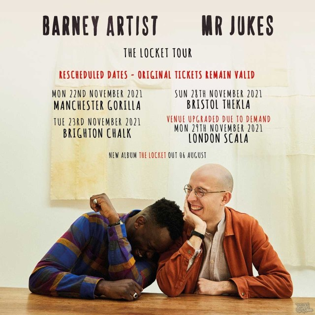 Mr Jukes And Barney Artist announce Rescheduled Live Dates For November 2021