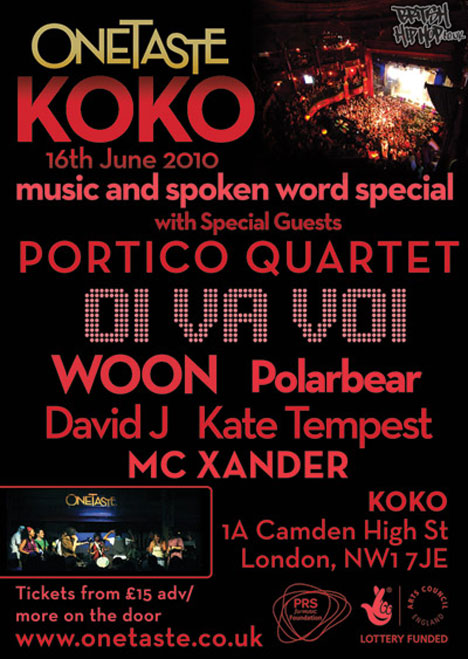 OneTaste To Host Night At Koko On 16th June