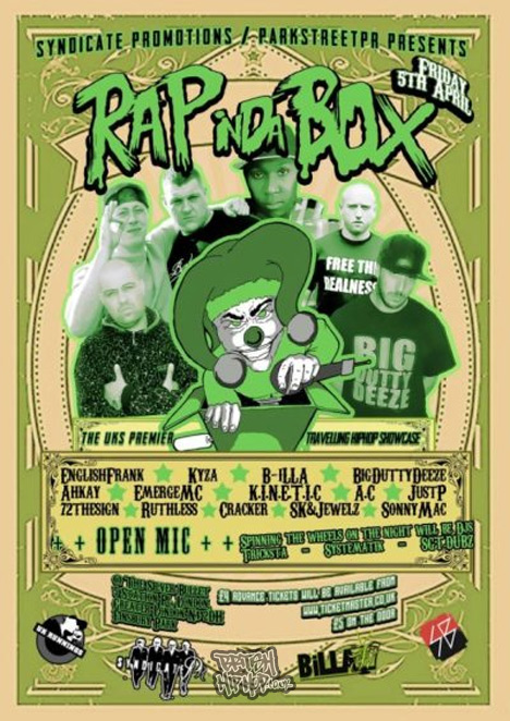 Rap In Da Box - Fri 05/04/13 London