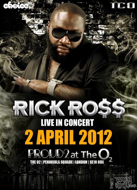 Rick Ross announces - Rich Forever Live At Proud2 2nd April 2012
