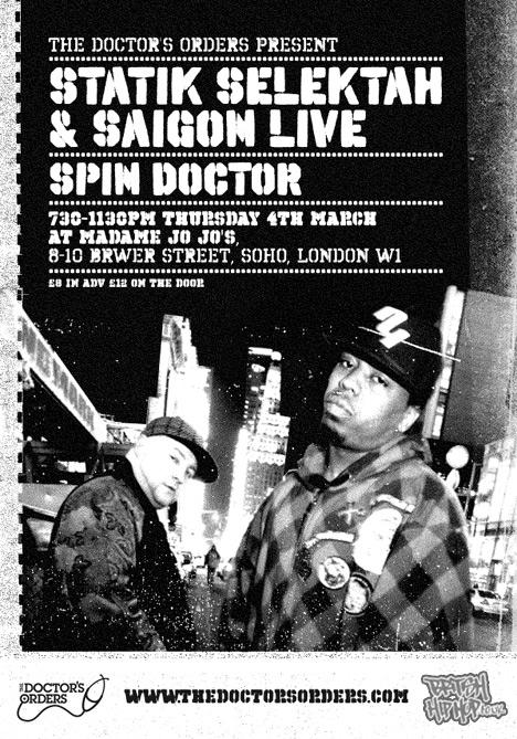 Statik Selektah And Saigon Live At The Doctor's Orders