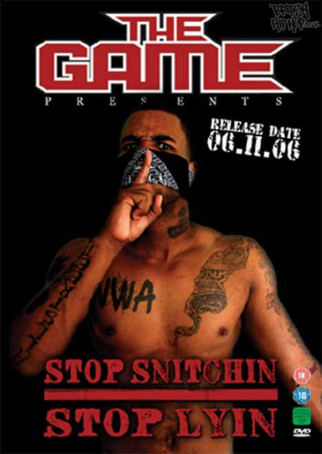 The Game 'Stop Snitchin' Stop Lyin' DVD