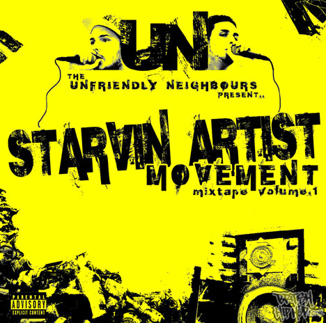 Unfriendly Neighbours - Starvin Artist Movement Mixtape Volume 1 CD [Rusty Jukebox]