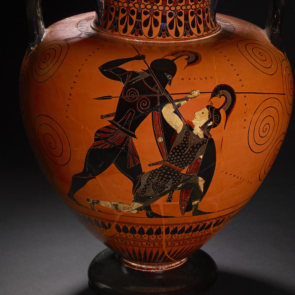 Image result for Greek Vase Achilles and Penthesilea