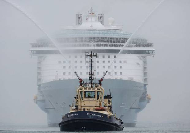 Oasis of the Seas arrives in Southampton