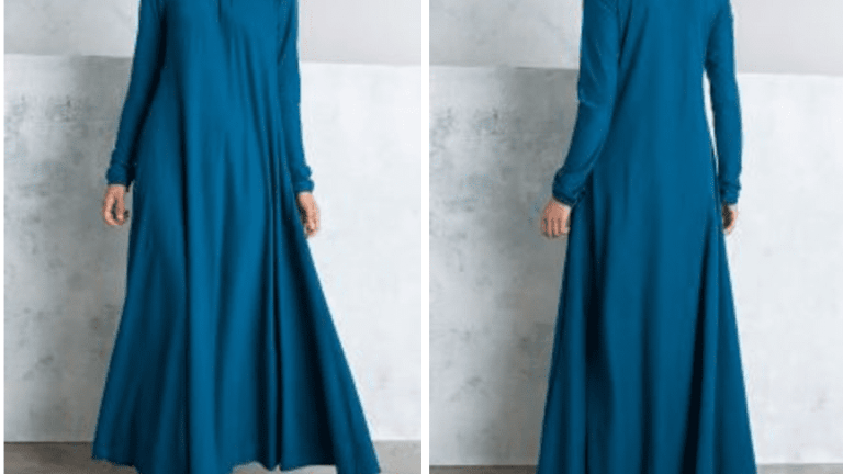 Mulberry Abaya Teal by Aab