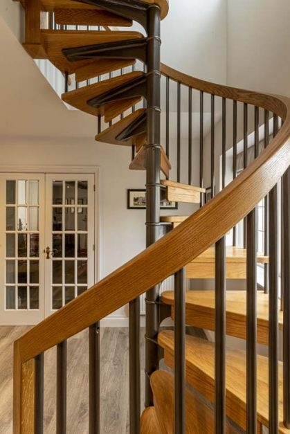 Building Your Own Timeless Spiral Staircase – British Spirals   Design Your Own Staircase   Metal   Stairway   Painted   Handrail   Grand Entrance