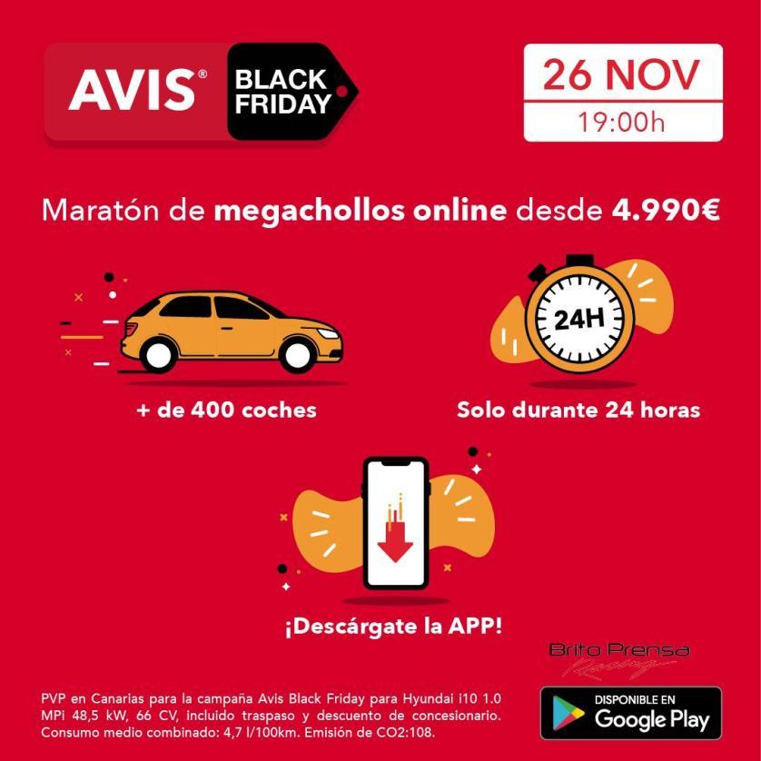 Vuelven los precios megachollos en una nueva edición de AVIS Black Friday