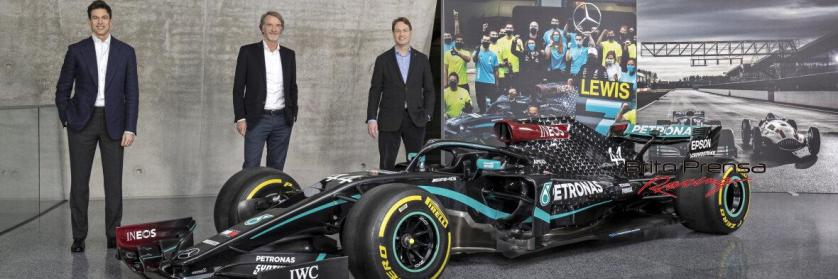 El equipo de Fórmula Uno Mercedes-AMG Petronas da la bienvenida a INEOS como accionista