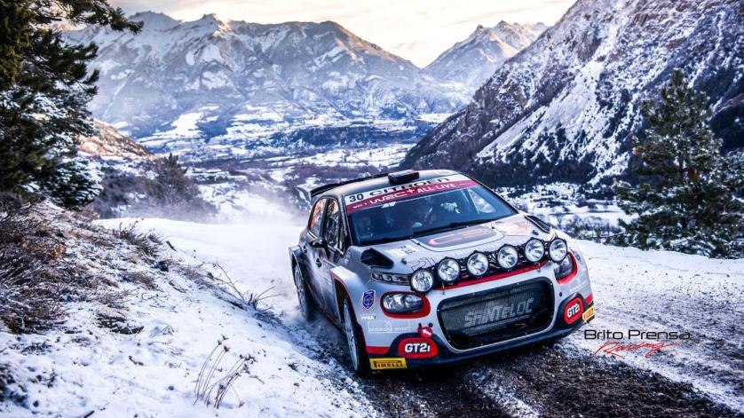 Rossel baja posiciones en la WRC3 del Rallye Montecarlo