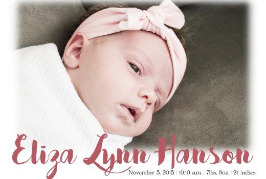 Eliza's Birth Anouncement