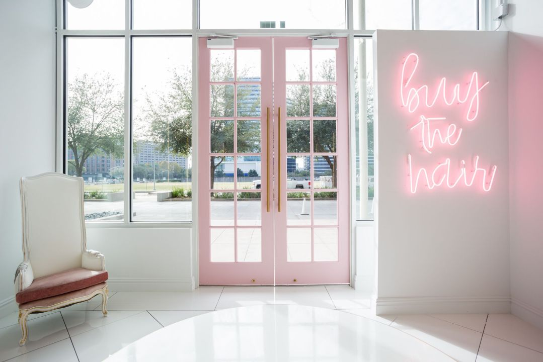 pink double doors by BE