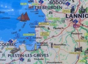 map Tredrez-Locquemeau