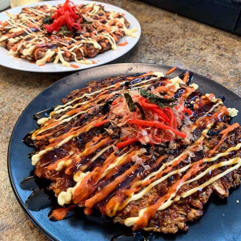 Corned Beef Cabbage Okonomiyaki