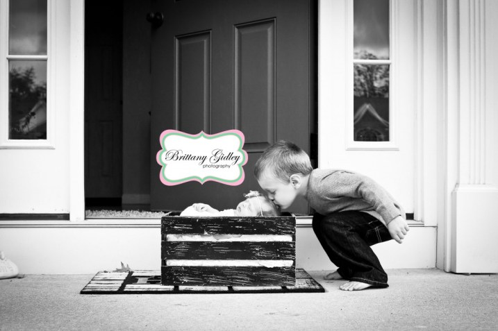 Newborn At Door | Brittany Gidley Photography LLC