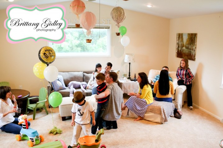 First Birthday Party Decor Hot Air Balloon | Brittany Gidley Photography LLC