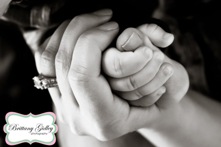 mom Dad Baby Hands | Brittany Gidley Photography LLC