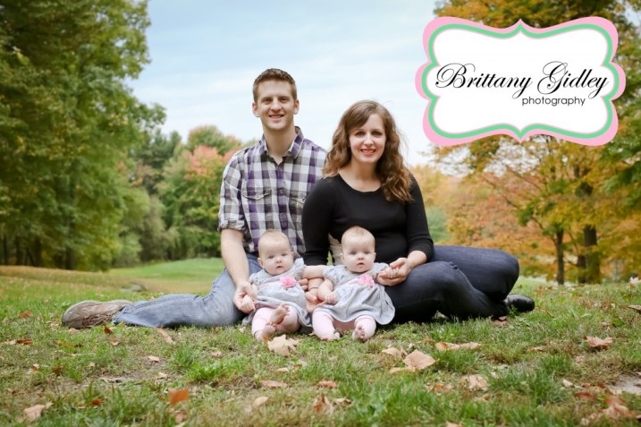 Fall Twins Family Leaves | Brittany Gidley Photography LLC