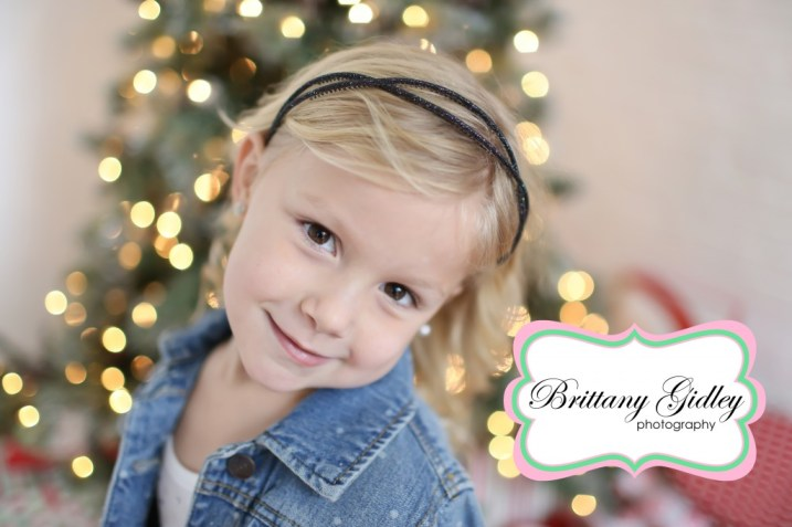 Christmas Light Bokah | Brittany Gidley Photography LLC