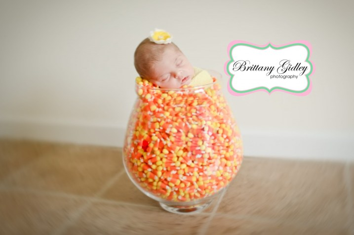 Candy Corn Newborn Baby | Brittany Gidley Photography LLC