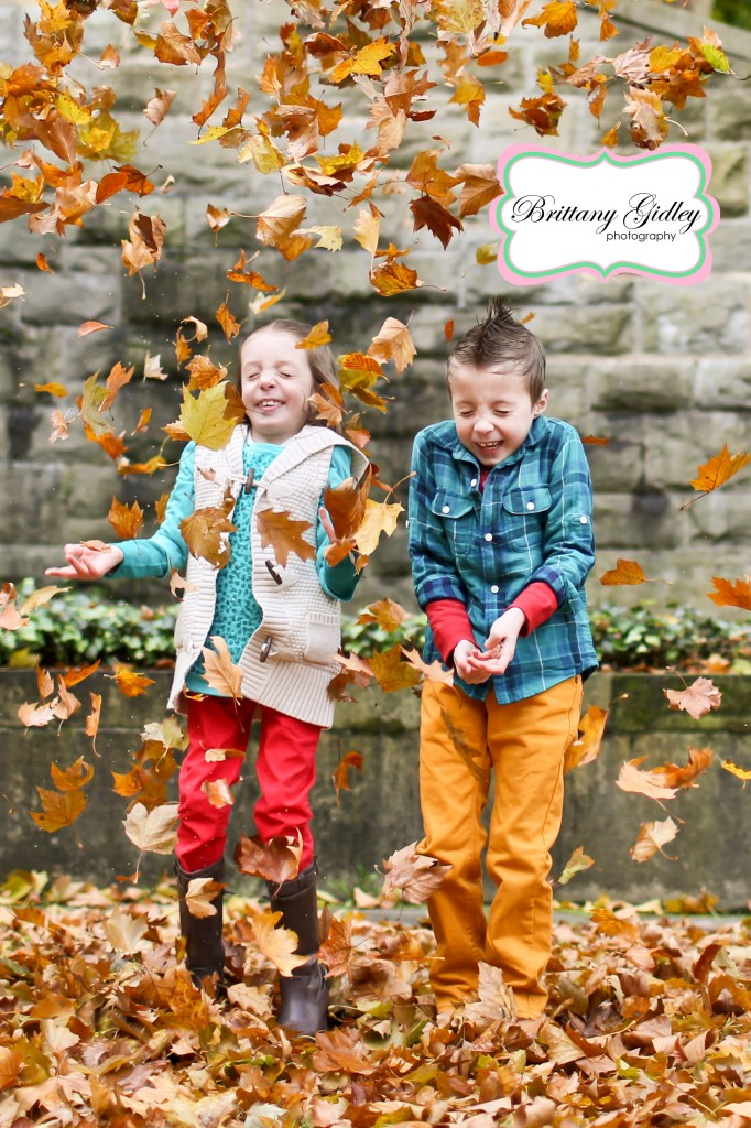 Leaves Fall Family Pictures | Brittany Gidley Photography LLC