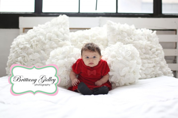 3 Month Old Poses | Holiday Mini Sessions Cleveland Ohio Photography | Brittany Gidley Photography LLC