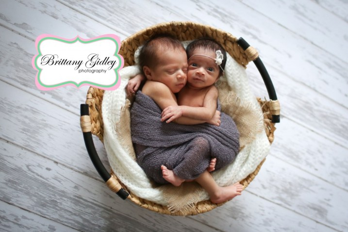 Twin Newborn Photographer | Brittany Gidley Photography LLC
