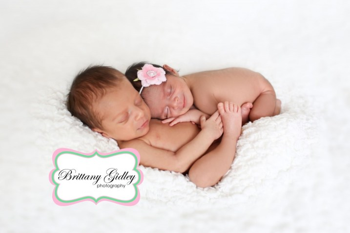 Cleveland Twin Newborn Photography | Brittany Gidley Photography LLC