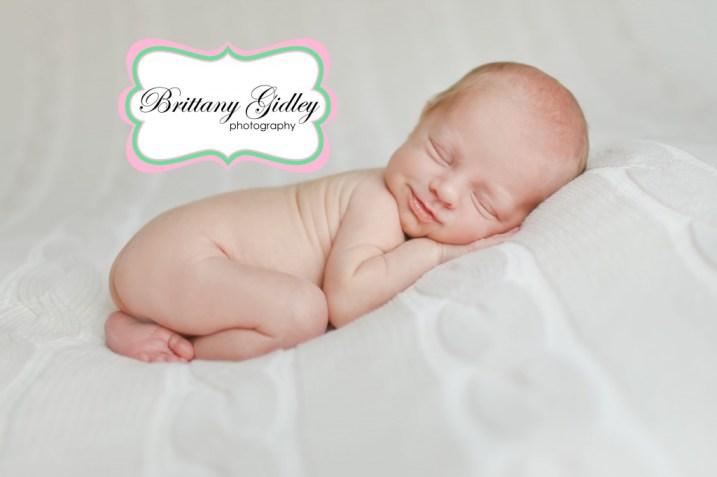 Smiling Newborn | Brittany Gidley Photography LLC