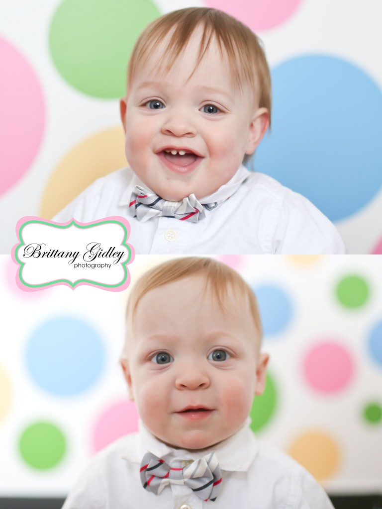 12 Month Twin Photography | Brittany Gidley Photography LLC