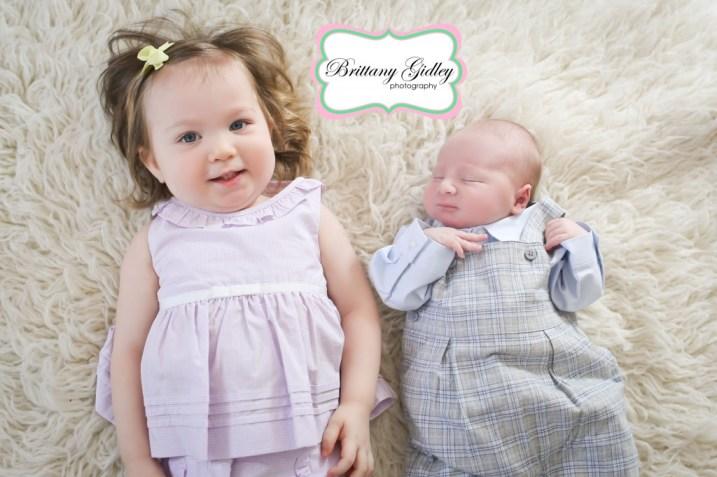 Big Sister and Newborn Boy   Brittany Gidley Photography LLC