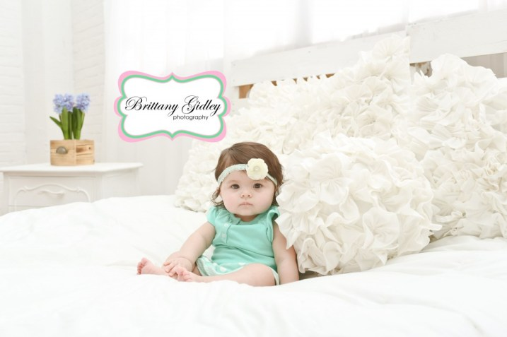 Baby Girl Photo Shoot | Brittany Gidley Photography LLC