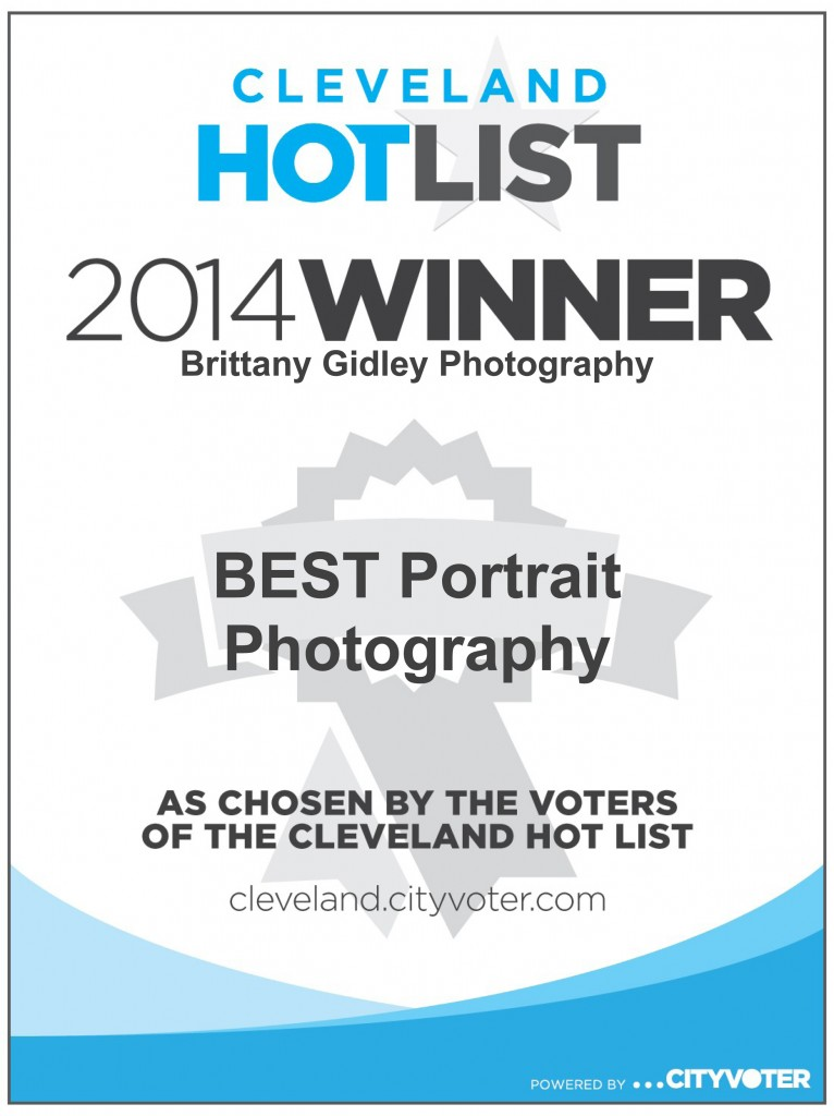 Cleveland Hot List Winner 2014 | Brittany Gidley Photography LLC