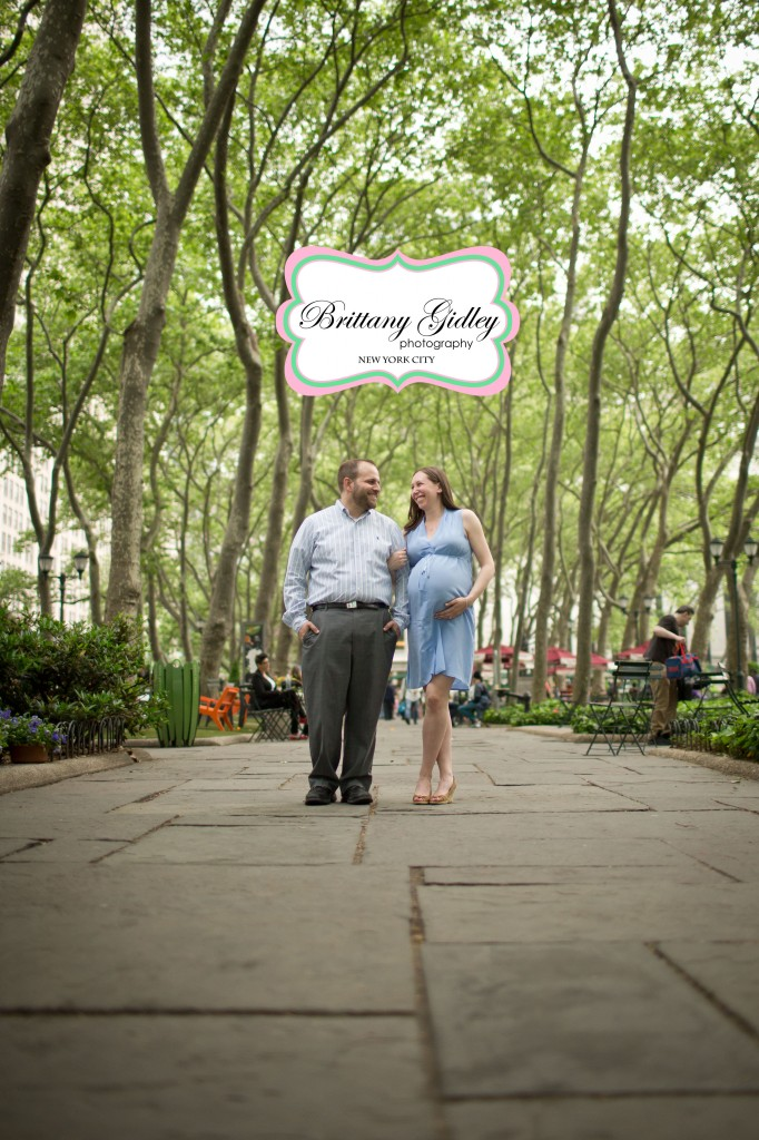 New York City Maternity Photography | Bryant Park | Brittany Gidley Photography LLC