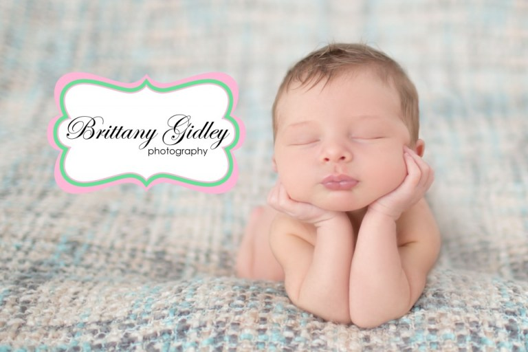 Newborn Baby Boy | Gray Brown Cream | Froggy Pose | Head In Hands | Prop Up | Brittany Gidley Photography LLC