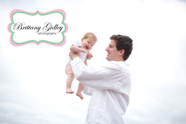 Beach Session | Baby with Dad Pose | Family Photographer | Brittany Gidley Photography LLC
