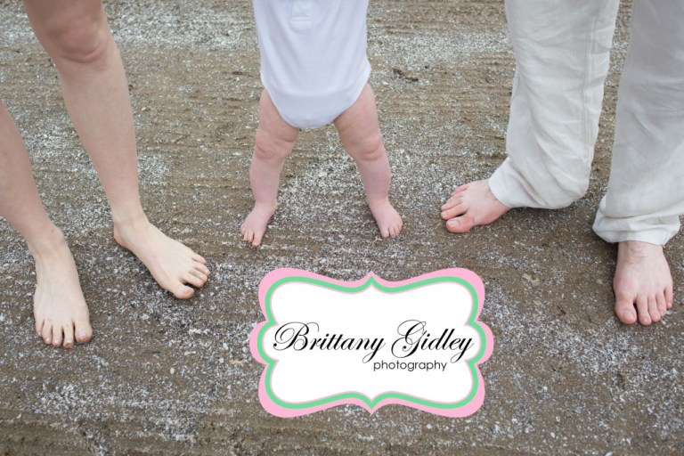 Family Pictures Ideas | Beach Session | Baby Feet | Family Photographer | Brittany Gidley Photography LLC