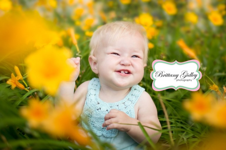 Baby In Flowers | Best Family Photographers | Brittany Gidley Photography LLC | Start With The Best